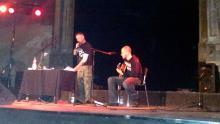 Danny B Helm & Norbi [Saitenfeuer] bei der Lesung @ UT-Connewitz, Leipzig (17.12. 2.013)