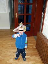 Mini-Rocker, der Sohn von Freunden (2.12. 2.013)