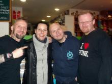 Danny B Helm, Britta Görtz [Cripper], Ferdy Doernberg & Stefan Thurek @ 25 Music Store, Hannover (4.12. 2.013)