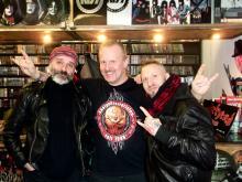 Karl Nagel [Kein Hass Da; Idiotenklavier], Jörn Rüter [Remedy Records; Kneipenterroristen; Torment] & Danny B Helm @ Remedy Records Store, Hamburg (5.12. 2.013)