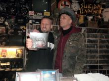 Danny B Helm & Sir Hannes Smith [The Idiots; Honigdieb; Idiots Records] @ Idiots Records Store, Dortmund (6.12. 2.013)