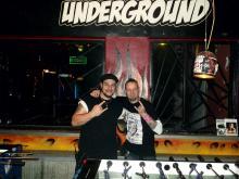 Joe [Underground] & Autor Danny B Helm vor Lesungsbeginn in Köln. (7.12. 2.013)