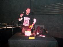 Autor Danny B Helm im Underground, Köln. (7.12. 2.013)