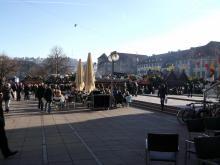 MassenMenschenMassen-Wahnsinn in Stuttgart  (10.12. 2.013)