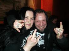 Lesungsbesucherin Magda & Autor Danny B Helm @ Kap Tormentoso, Stuttgart (11.12. 2.013)