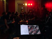 Der Blick auf die Lesungsgäste in Gutenstetten aus Autorensicht (14.12. 2.013)
