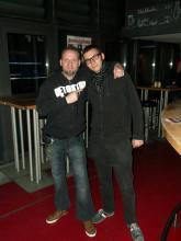 Danny B Helm & ein Mitarbeiter des Studentenclubs Bärenzwinger, Dresden (16.12. 2.013)