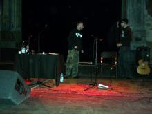 Ankunft von Special Guest Norbi [Saitenfeuer] im UT-Connewitz, Leipzig (17.12. 2.013)