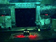 Die Bühne im UT-Connewitz, Leipzig aus der Sicht der Technikcrew (17.12. 2.013)