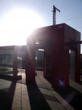Ankunft in Rheinberg. Sonnenboten. (20.12. 2.013)