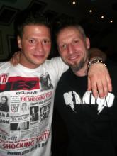 Betontod Drummer Maik & Danny B Helm auf der weiten See der Aftershow Party, Rheinberg (20.12. 2.013)